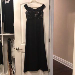 Long off the shoulder dress